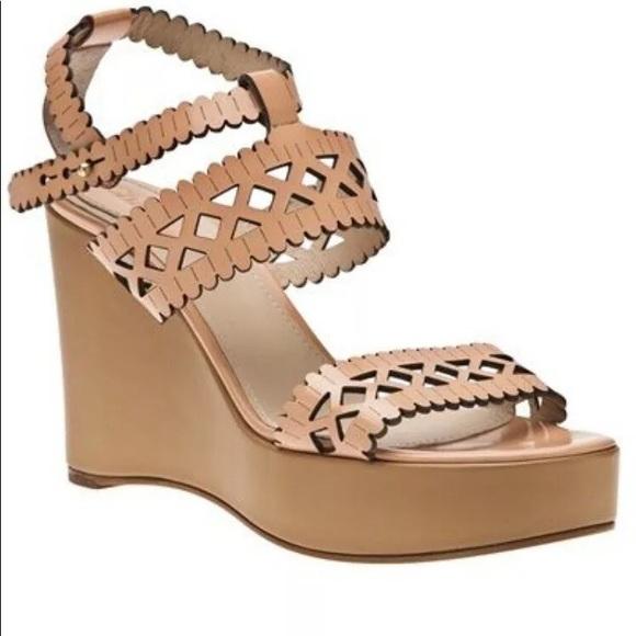 Chloe Shoes - Chloe size 7.5 Laser cut wedge sandal